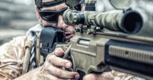 Private Military Contractor Pmc Sniper In Baseball Cap With Assa