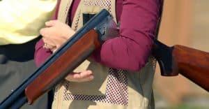 woman with shotgun on trap range