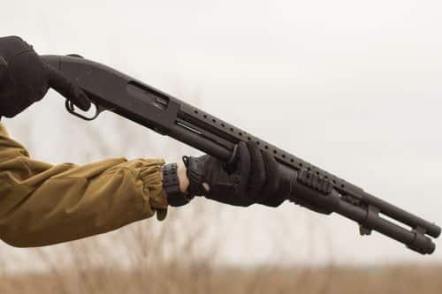 Pump action guns