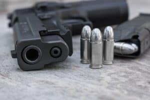 pistol or handgun with bullet